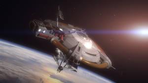 Thunderbird 5 in Orbit by Chrisofedf