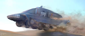 Captain Scarlet: Dune charge by Chrisofedf