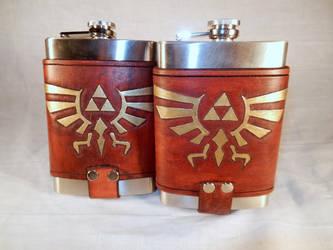 Legend of Zelda Flasks by deadlanceSteamworks