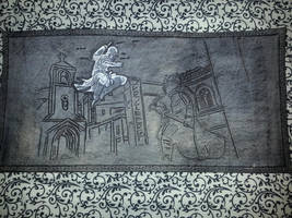 Assassin's Creed Leather Hand Tooled Playmat by deadlanceSteamworks