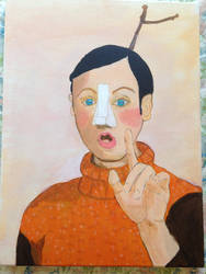 Pinocchio The Real Boy (Acrylic Painting) by ThatMansour