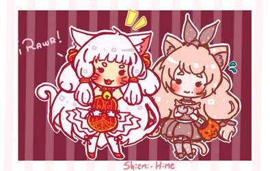 [Halloween YCH] Cuuuute kitties!! by Shiemi-Hime