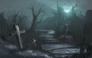 Cemetery -sketch by artozi