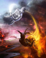 Element's fight by artozi
