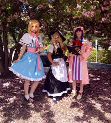 Touhou Cosplay 1  Alice, Marisa and Patchouli by WorldwideWumbologist