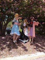 Touhou Cosplay 2 - Alice, Marisa and Patchouli by WorldwideWumbologist