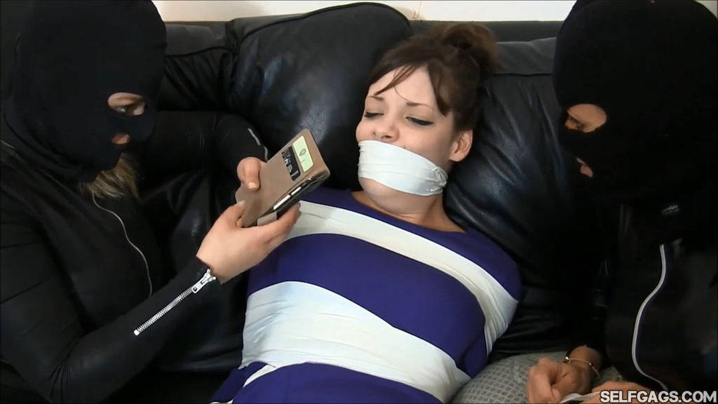 Tied And Gagged Damsel by Selfgags