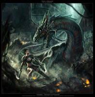 Face a Dragon by charro-art