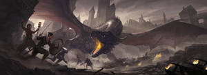 Rise of the Dragon Master Screen by charro-art