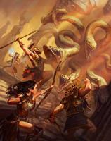 Arkadia cover artwork by charro-art
