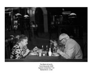 Two Beers at Lunch - Print.. by straightfromcamera