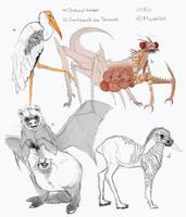 Deltora Creatures by Kira108