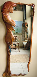 Design Mirror - wood by ayhantomak