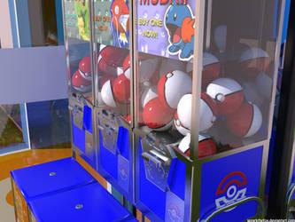 Realistic: Pokeball Vending Machine by iSparkthefox