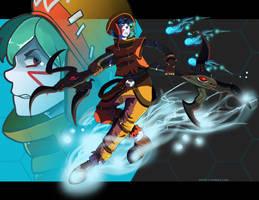 Azure Kite by DeviousVampire