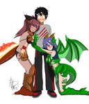 (C) Two Monster Girls and A Guy by Snail-Guy