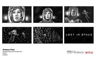 Lost in Space logo promotional storyboard by AOPaul