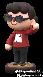 Danimal Crossing - NerdCubed Animal Crossing style by RaptorBricks