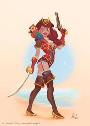 Pirate girl by Trefle-Rouge