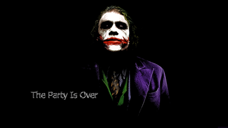 The Party Is Over (joker-wallpaper) by Narutoalg