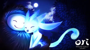 [Fanart]Mother hugs : Ori and the blind forest by kuttoyaki