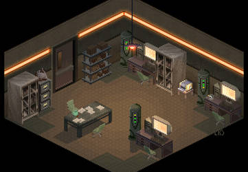 Military Research Room v1 by lenstu82