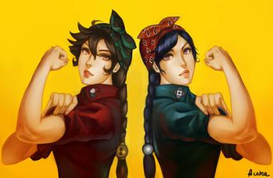 Alys and Mooloid : W e  C a n  D o  I t by acetea-san