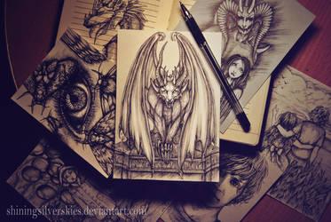 Dark creature by shiningsilverskies