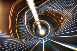 Light Tube Stairs are Warm by kharashov