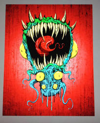 Red monster by AngelOnofre