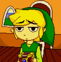 Bored Toon Link by draconar