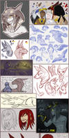DEITIES -- 2015 - JAN '16 Artdump (Part I) by TeniCola
