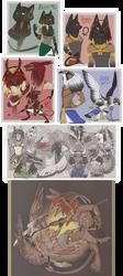 DEITIES -- Hybrid Deity forms by TeniCola
