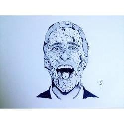 Christian Bale American Psycho portrait by Mrwiz199