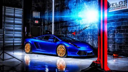 Lamborghini Gallardo ADV1 Blue by ROGUE-RATTLESNAKE