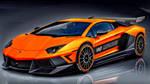 Black and Orange Lamborghini Aventador by ROGUE-RATTLESNAKE