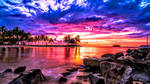 Beautiful Sunset Beyond Beach Resort (Exclusive) by ROGUE-RATTLESNAKE