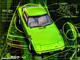 Mazda Savanna RX-7 by ROGUE-RATTLESNAKE
