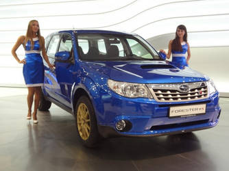 Hot Model Girls and 2010 Subaru Forester TS by ROGUE-RATTLESNAKE