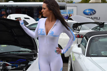 Japfest 2013 Carla Marie Posing with Cars by ROGUE-RATTLESNAKE