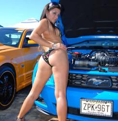 HOT SEXY GIRL AT NUROTAG EXOTIC CUSTOM CAR SHOW by ROGUE-RATTLESNAKE