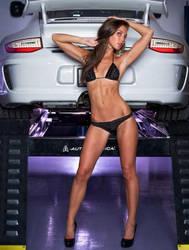 Hot Bikini Girl Launching Porsche by ROGUE-RATTLESNAKE