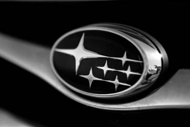 Black and White Subaru Logo Wallpaper by ROGUE-RATTLESNAKE