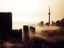 Morning Fog over The Greater Toronto Area (GTA) by ROGUE-RATTLESNAKE