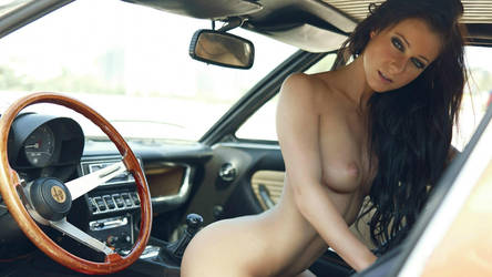 Hot Nude Girl in  Alfa Romeo Montreal by ROGUE-RATTLESNAKE
