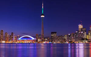 Toronto CN Tower at Night by ROGUE-RATTLESNAKE