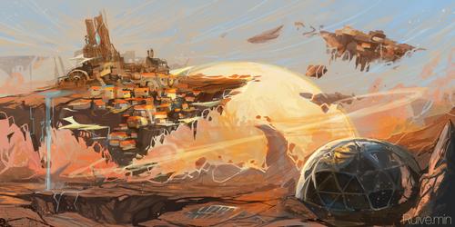 Scifi environment by ruivemin