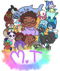 Look at all my characters by Mini-Tea