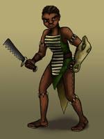 Crocodile Warrior by Blondbraid
