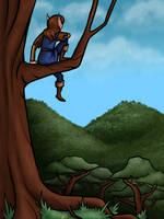 In a tree by Blondbraid